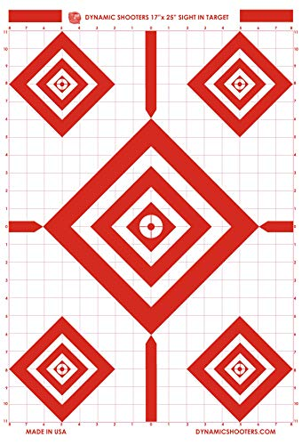 Dynamic Shooters 17x25 Inch Sight in Paper Shooting Range Targets- (50 Pack) for Firearms, Guns, Rifle, Pistol, BB Guns, Airsoft, Pellet Gun, Air Rifle