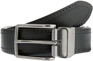 Dents Men's Brogue Style Reversible Leather Belt