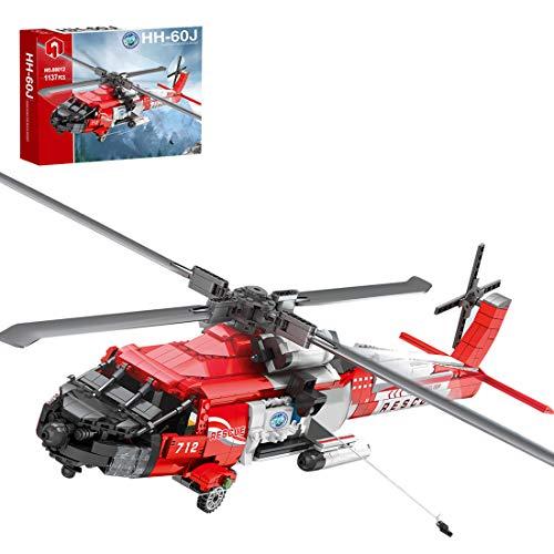 lego technics elicottero da salvataggio MSEI Technic Elicottero Fai da Te 1137 Pezzi Salvataggio in Elicottero Costruzioni Giocattolo Compatibile con Lego