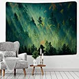Tapestry Forest Under Sun Tapestry Wall Hanging Sandy Beach Picnic Rug Camping Tent Sleeping Pad Home Decor Landscape Wall Cloth 150x100cm
