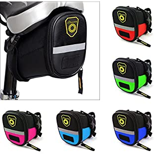 Beeway® Bike Saddle Bag, Outdoor Cycling Mountain Bicycle Back Seat Pack Storage Bag - Water Resistant, Colors
