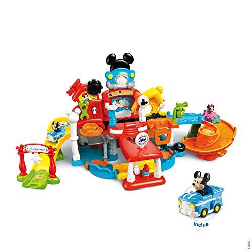 VTech – Tut Tut Bolides - Le Magi- Garage Interactif de Mickey + Pick-up Magique de Mickey – Garage Voiture – Version FR