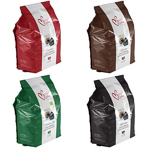 Nescafe Dolce Gusto Compatible Espresso pods, Italian Coffee Capsules (Tasting Bundle, Tot. 64 pods, 4 Flavors)