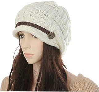 Tangpan Women Lady Beanie Knit Beanie Hat Crochet Cap Earmuffs Helmet