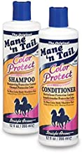 The Original Mane 'n Tail Color Protect Shampoo + Conditioner – 8 Weeks Color Vibrancy – Max Color Hold, Healthier Hair - Reduced Frizz, UV/Thermal Protection – 2-Pack (12)