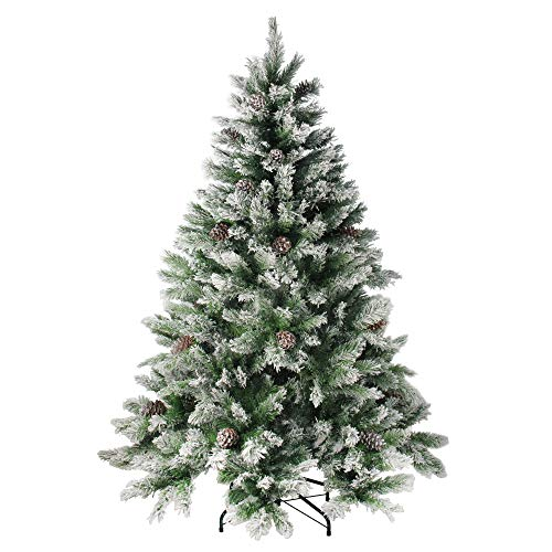 Northlight Angel Pine Cones Christmas Tree, 6', Green