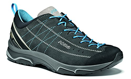 Asolo NUCLEON GV ML Shoe, Womens Shoes,Multicolour (Grey (Graphite/Silver/Cyan Blue)), 5.5 UK