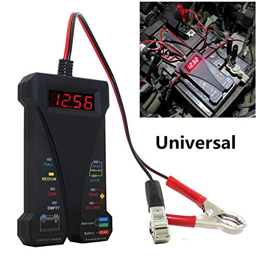 Cheapest Price! Alician 12V LCD Display Digital Battery Tester Voltmeter and Charging System Analyze...