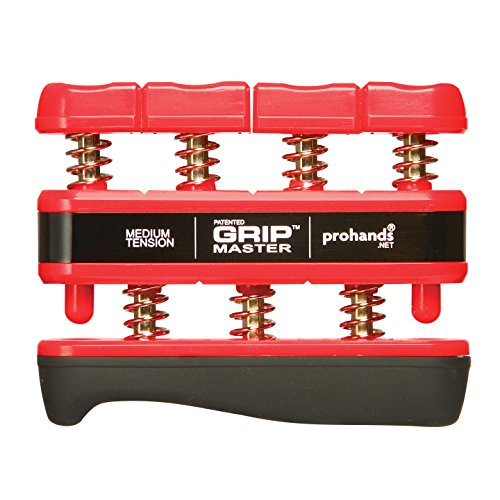 prohands Gripmaster średnie napięcie dłoni i palców ćwiczenie – czerwony, 20 kg