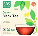 365 by Whole Foods Market, Organic Black Tea - Contains Caffeine (70 Tea Bags), 4.9 Ounce