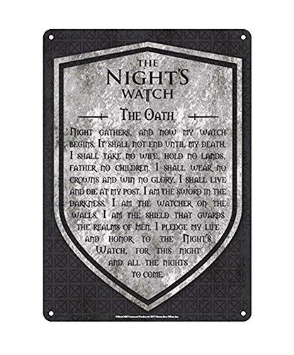 Game of Thrones Blechschild Nights Watch (21cm x 15cm)