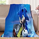 NUOMANAN Sonic The Hedgehog, Sonic Racing (1) manta ligera de 100 x 125 cm para cama y sofá de fácil cuidado