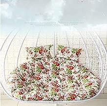 وسادة مقعد إسفنجي متأرجح لمقعد السلة للتعليق على الحديقة YPshell مقاس 110x100x10 سم (وردي)