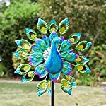 garden mile® Magnificent Peacock Solar Power Garden Wind Spinner | Colourful Exotic Bird Outdoor Garden Lawn and Patio… 2