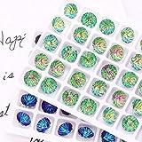 8mm runde Rivoli Strasssteine Pointback 10mm Kristallstrass Kleber auf Nägeln Glas Strasssteine...