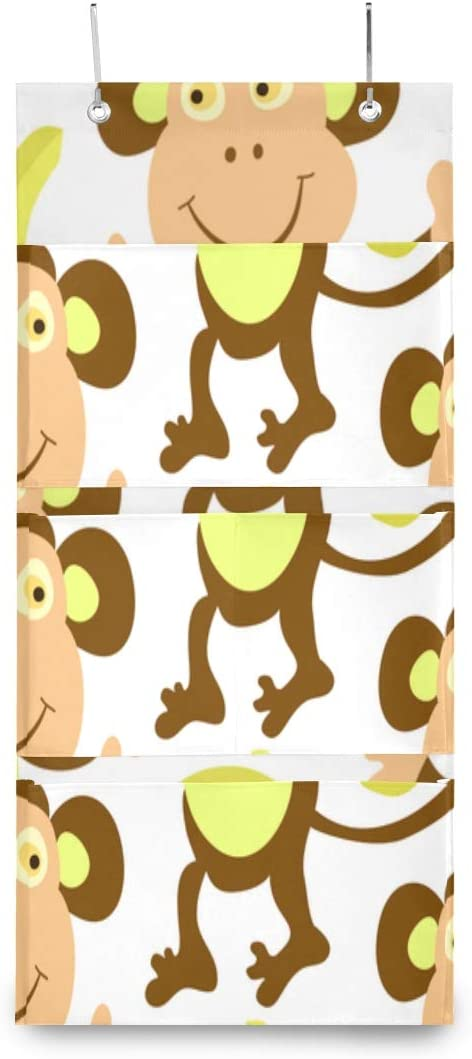 XDCGG Hanging Storage Bag Adorable Kids Monkey outlet Banana Al sold out. Or