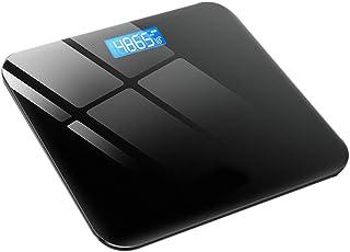 Báscula plana Alta Precisión, Gran Plataforma, 180 Kilogramm, Báscula digital con pantalla LCD,diseño de esquina redonda,Conversión de 3 Unidades, (Color : Black)