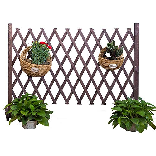 ZHANWEI Garden Fence Picket Fencing Climbing Vine Plant Flower Stand  Retractable Indoor Partition Animal Barrier, 3 Colors, 4 Sizes (Color :  Brown, ...