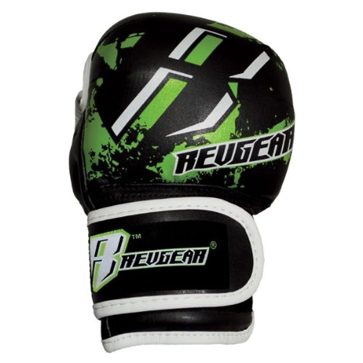 年金受給者ディスクボトルREVGEAR[レヴギアー] キッズ用 MMAファイトグローブ (グリーン)/ Youth Deluxe MMA Glove
