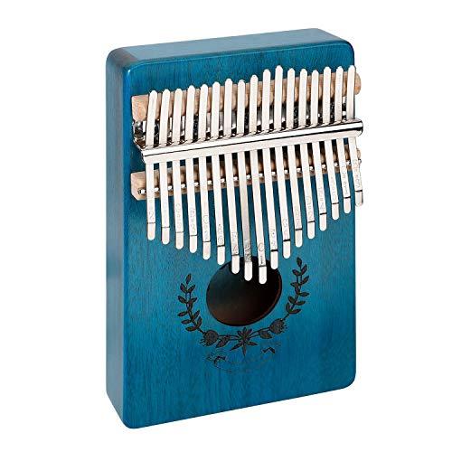 ZHAN Finger Piano, Clave 17 Pulgar Pulgar Piano Piano De Bolsillo con El Sintonizador Martillo Y Libro Inglés Song, Principiantes/Avanzado Reproductor, Cuerpo De Caoba
