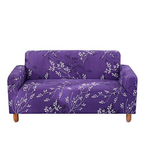 Fashion·LIFE Sofabezüge 3-Sitzer Sofa Überwürfe Sofabezug Stretch elastische Sofahusse,Stretchhusse Wohnzimm-er Sofas-chutz,Lila
