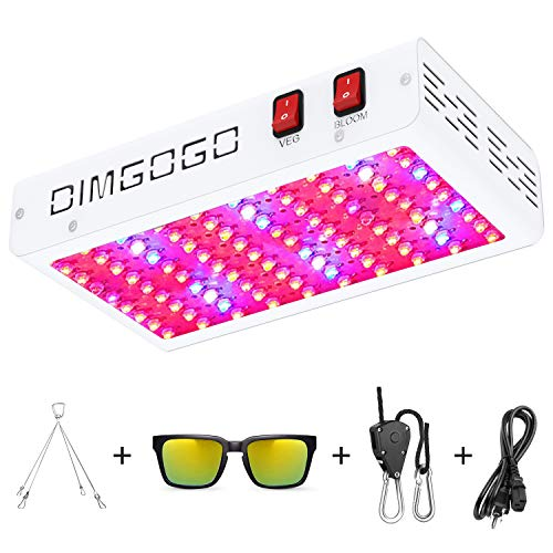 Dimgogo 1000w LED Grow Light Double Chips Full Spectrum with Veg Bloom Switch, Daisy Chain Function, UV&IR for Indoor Plants Veg and Flower (10w LEDs 100Pcs)