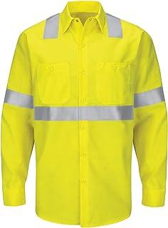 Red Kap mens Hi-Vis LS Colorblock Ripstop Work Shirt - Type R, Class 2 Shirt