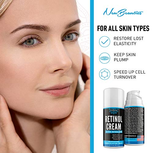 51ouAT87akL - Micro-Sculpting Anti-Aging Retinol Moisturizer - Made in USA - Facial Moisturizer with 3% Retinol, Hyaluronic Acid & Collagen - Anti-Wrinkle & Fine Line Reduction - Rich Wrinkle Cream for Face & Neck