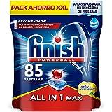Finish Powerball All in 1 Max - Pastillas para el lavavajillas todo en 1 - limón - formato 85 unidades