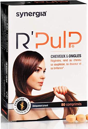 R'Pulp - A base de kératine (Certifiée sans souffrance animale) - Cheveux et ongles - Régénère le cheveu et limite la chute (1 boîte)