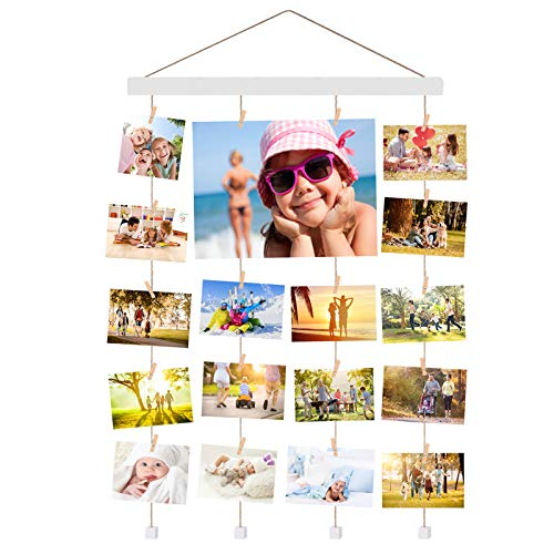 Halcent Fotorahmen Bilderrahmen Collage, Wanddekoration Holz Fotocollage Fotowand Holzbilderrahmen