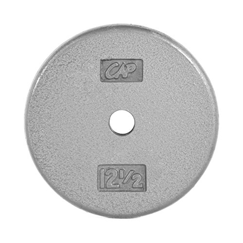 Cap Barbell Standard Free Weight Plate, 1-Inch, 10-Pound, Gray