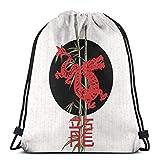 Yuanmeiju Dragon (Chinese Zodiac) Shoulder Bolsa con cordón Backpack String Bags School Rucksack Gym Sport Bag Lightweight