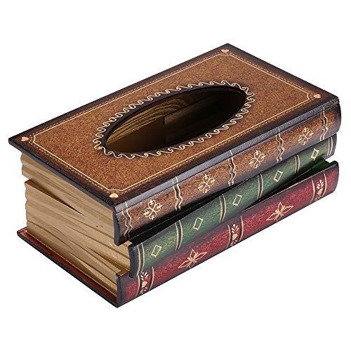 Wooden Antique Book Tissue Dispenser