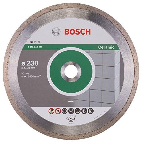 Bosch Professional Diamanttrennscheibe Standard für Ceramic, 230 x 22,23 x 1,6 x 7 mm, 1-er Pack, 2608602205