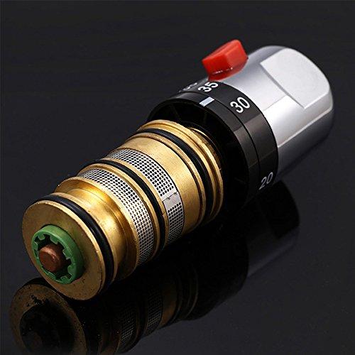 Interlink Duschthermostat thermostat Duscharmatur Mischbatterie Brausethermostat Thermostatventil Dusche - 5