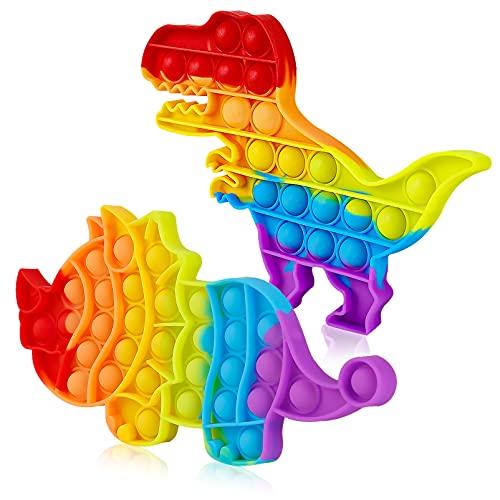 2 Packs Pop Bubble Fidget Sensory Toys, Figit Set Silicone Cute Figetget Popits Toys, Autism Special...