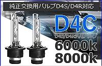 HIDヘッドライト D4 D4C D4S D4R 汎用バルブ 明るさ150%向上 かんたん保証対応1年間 4300k/6000k/8000k/12000k [並行輸入品]