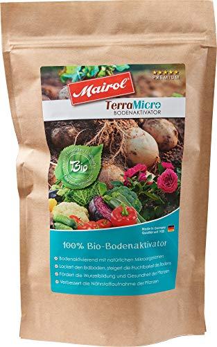 Mairol TerraMicro 100% Bio Bodenaktivator mit Microorganismen, Pulver 450 g mit Messlöffel