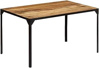Festnight Table de Salle à Manger Table à Dîner 140x80x76 cm Bois de Manguier Massif