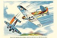 壮大なイギリスの戦闘機WPA戦争プロパガンダ 300枚の木のパズル脳が美しいアクセサリーに挑戦します。