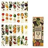Marcadores de libros, Lychii paquete de marcadores de estilo vintage, 28 tipos de marcadores de papel de diseño retro (Set D)