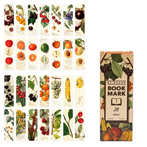 Lesezeichen, Lychii Vintage Style Bookmarks Pack, 28 Arten von Retro Design Papier Lesezeichen (Set D)