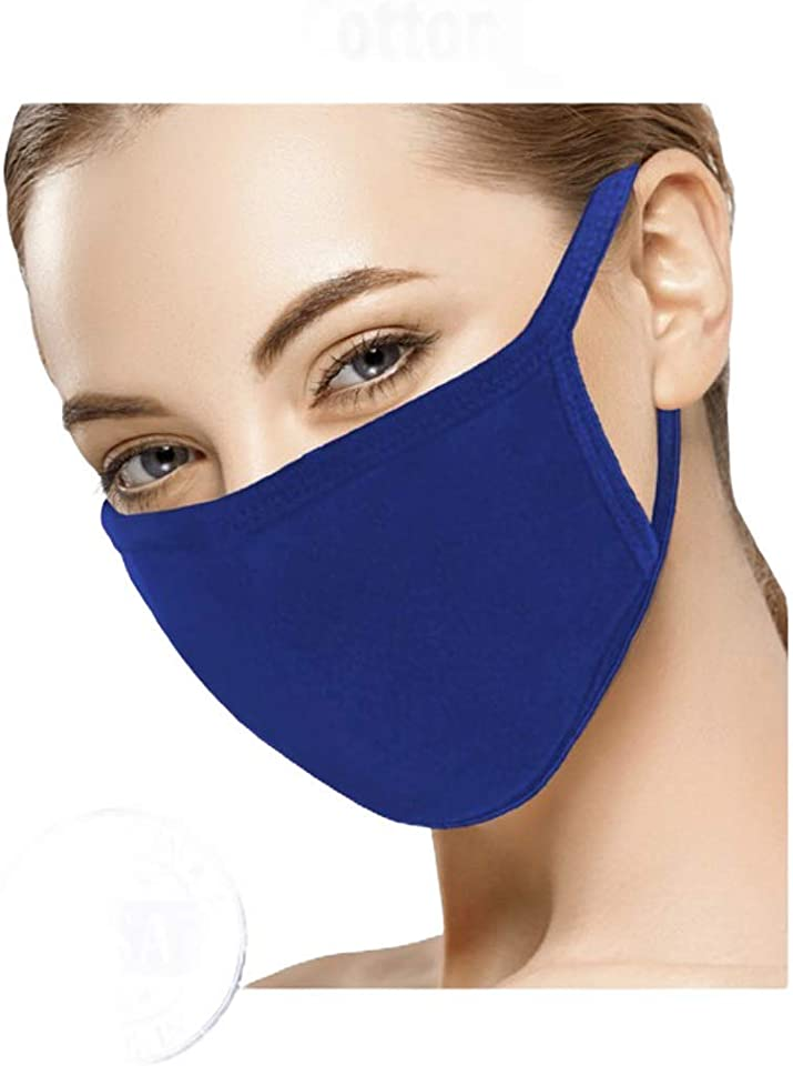 Washable Face Mask, Cloth Reusable Face Mask. Solid Color. Made in USA