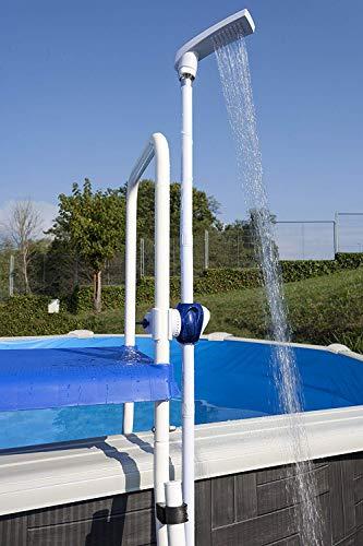Gre DPE10 – buitendouche voor uitgestelde zwembaden met bevestigingssysteem op de trappen