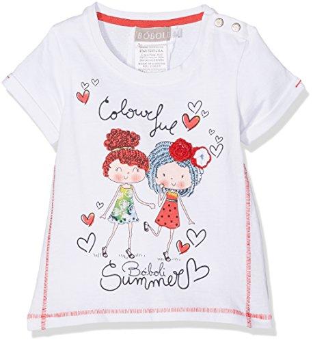 Boboli boboli Baby-Mädchen T-Shirt Camiseta Punto Liso Pack, weiß, größe 3M(62cm)