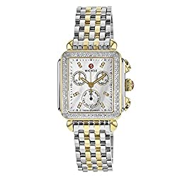 commercial Women's Quartz Two-Tone Watch with Analog Display MICHELE MWW06P000108 Decoration michele deco watch
