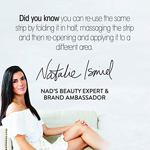 Nad's Body Wax Strips - Natural All Skin Types - Wax Hair Removal For Women - At Home Waxing Kit With 30 Body Waxing Strips & Post Wax Oil.0, 1.0 Count