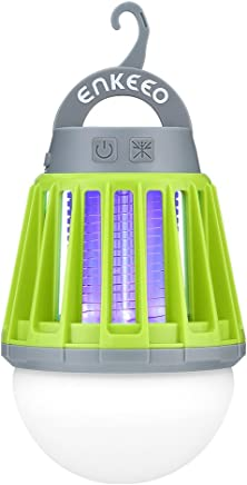 ENKEEO 2-in-1 Camping Lantern Bug Zapper Tent Light -...