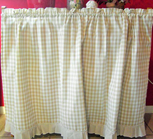 Regalverkleidung,Vorhang,karo vichy Gardine,Regalvorhang,handmade